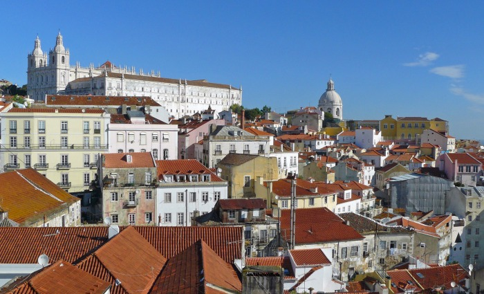 Churches and rooftops of Lisbon