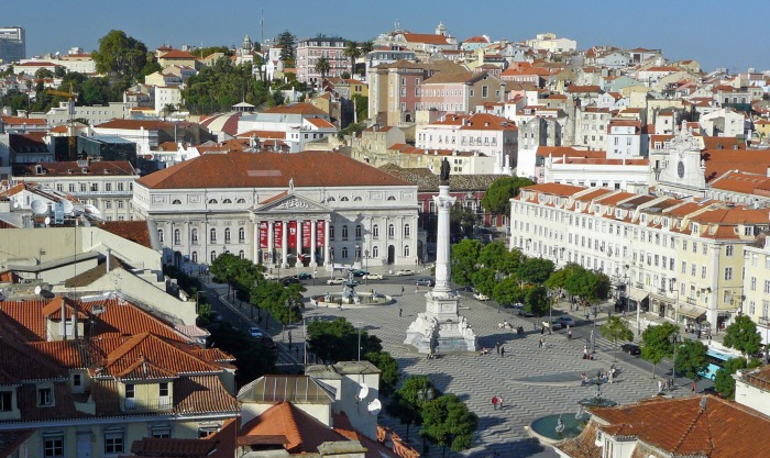 View of Lisbon Rossio Square