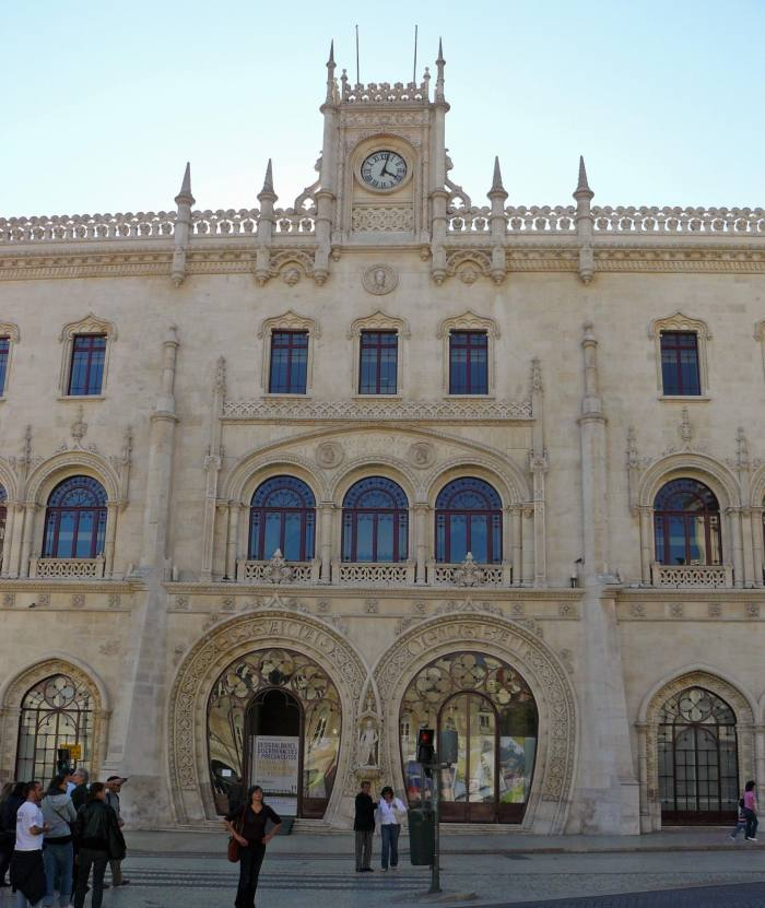 View of Lisbon Rossio Station building
