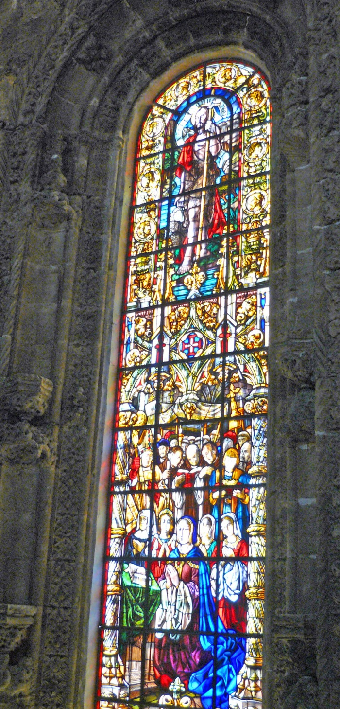 Jeronimos Monastery church window