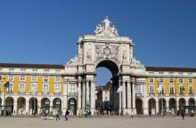 View of Lisbon Rua Augusta Arch