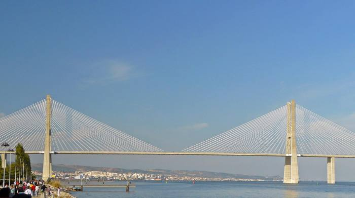 View of Lisbon Vasco de Gama Bridge