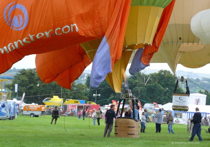 Colorful canopies at Bristol International Balloon Fiesta