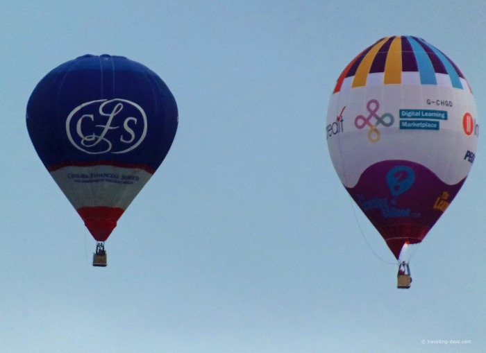 Two balloons at Bristol International Balloon Fiesta