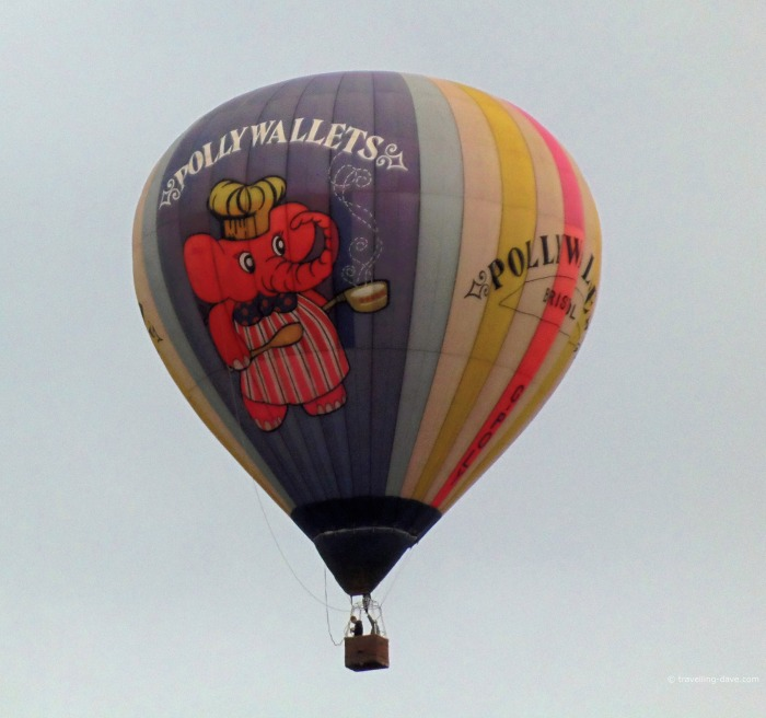View of a hot air balloon