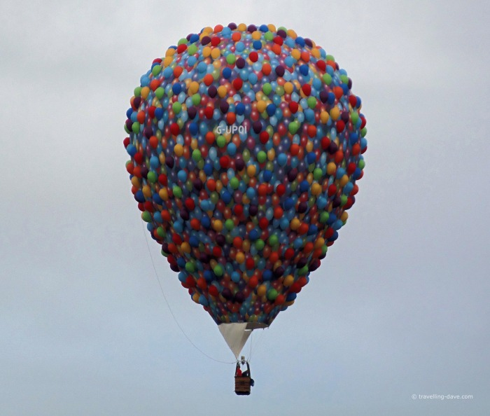 View of a balloon as seen in the movie UP!
