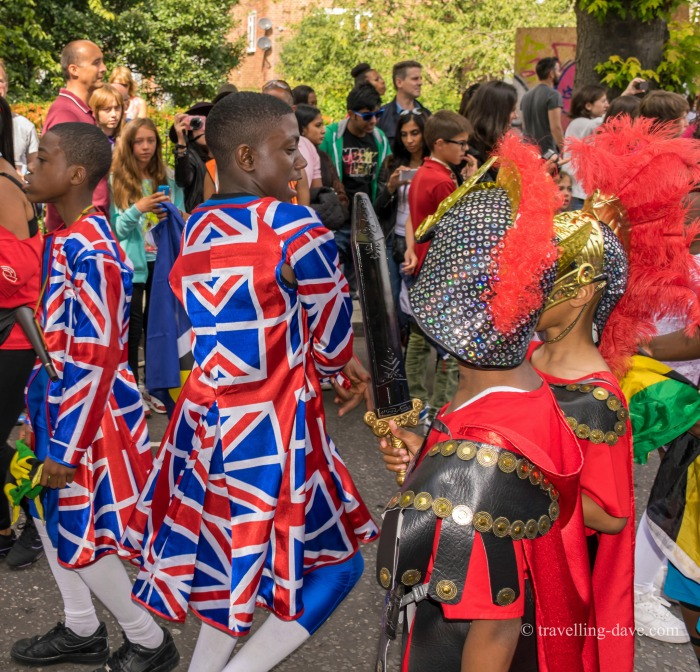 People on parade at Notting Hill Carnival