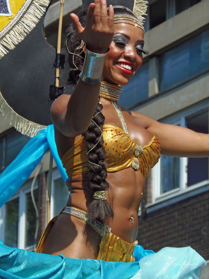 One of Notting Hill Carnival dancers