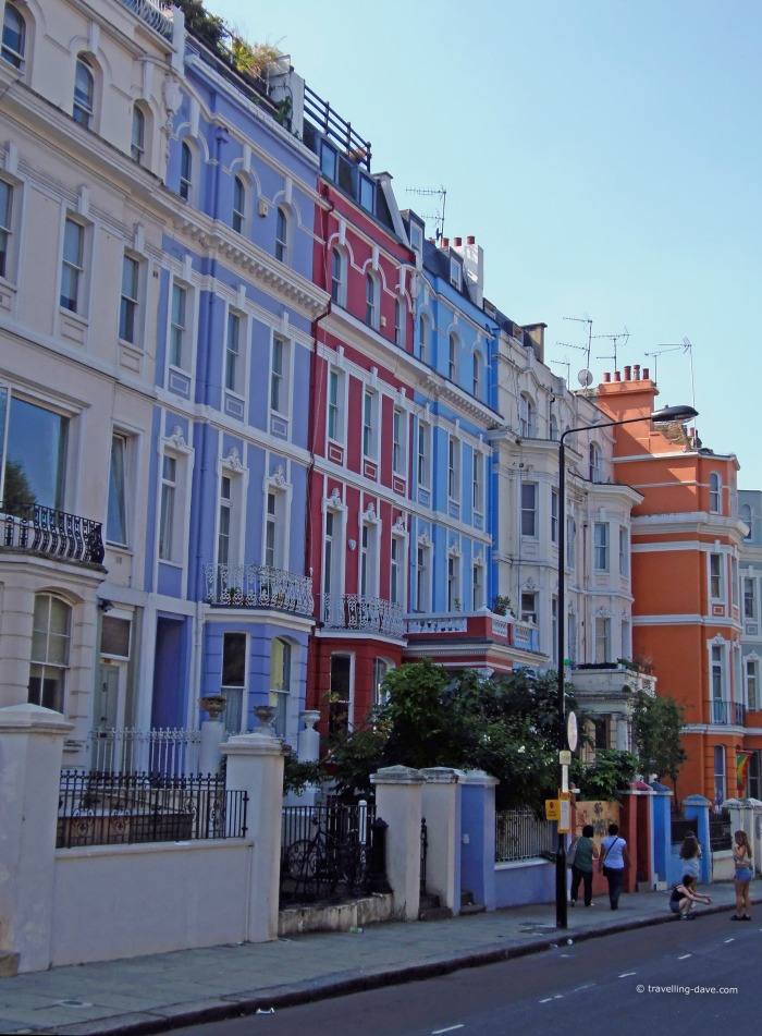 Some of the colorful houses of Notting Hill