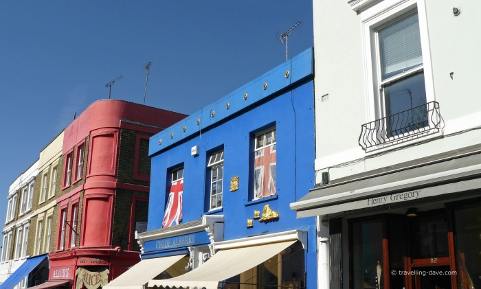 Houses and shops on Portobello Road