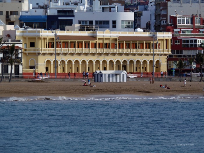 One of Las Canteras Beach beachside buildings