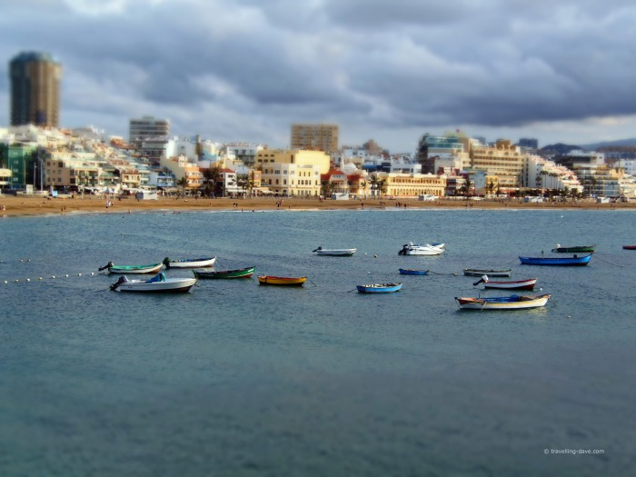 View of boats at Las Palmas de Gran Canaria