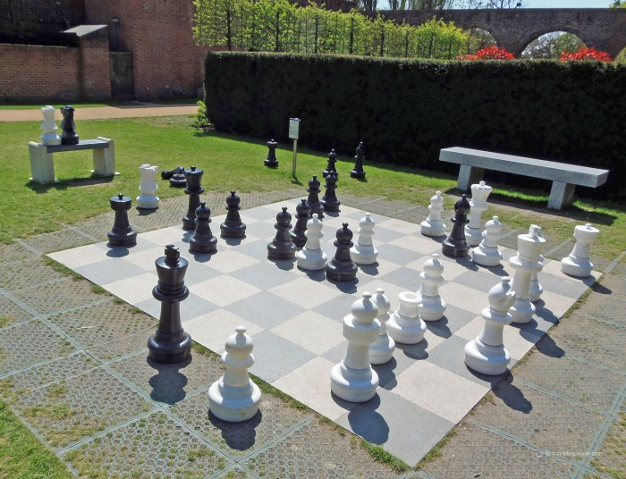 View of Holland Park giant chess board