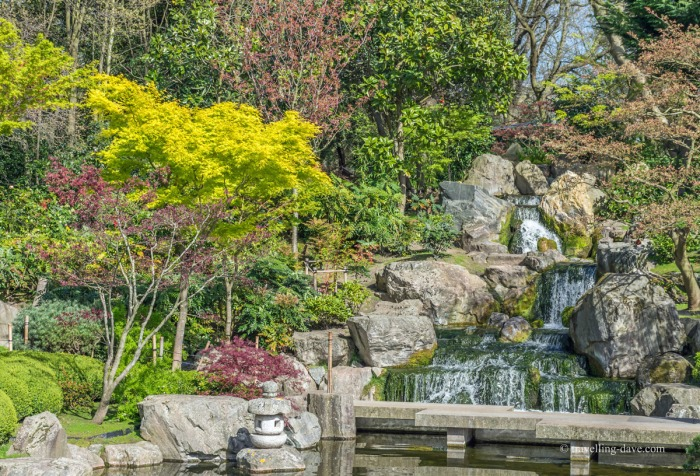 Holland Park Kyoto Garden waterfall
