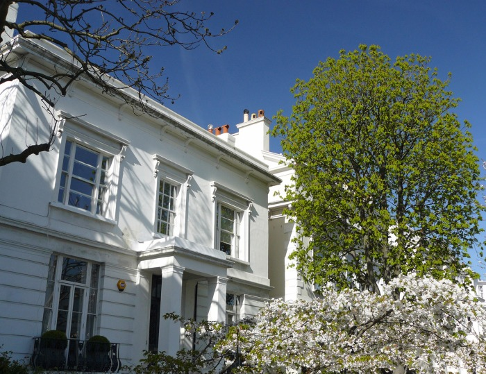 One of the beautiful houses near Holland Park