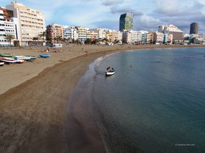Panoramic view of Las Canteras Beach