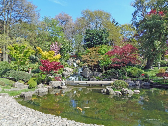 Holland Park Kyoto Garden pond