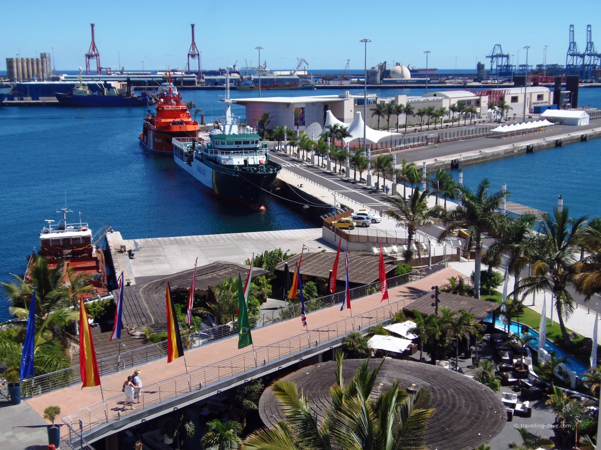Boats in the harbour at Las Palmas de Gran Canaria