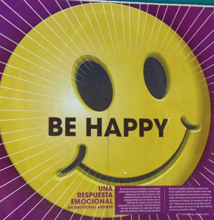 Quotation on a smiley face poster