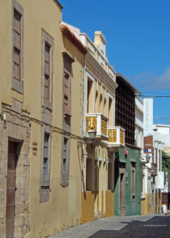 View of some old houses in Las Palmas