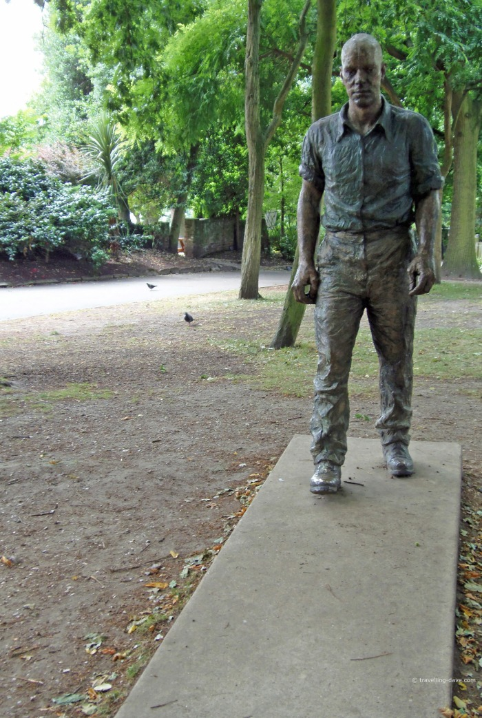 Holland Park Walking Man sculpture