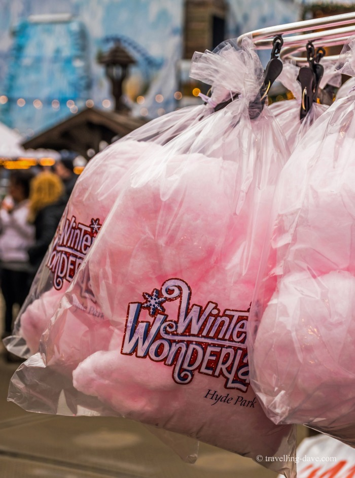 Bags of pink candy floss