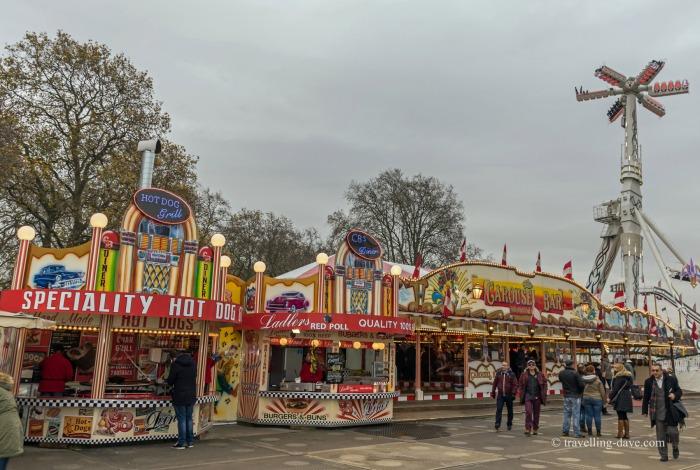 View of Winter Wonderland food kiosk