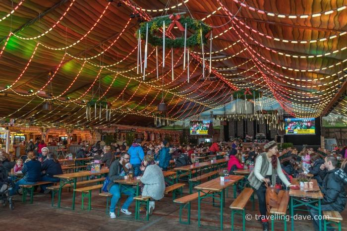 Winter Wonderland indoor Beer Garden