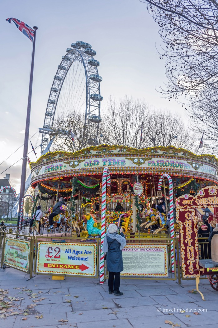 View of the London Eye and a Merry-go-round