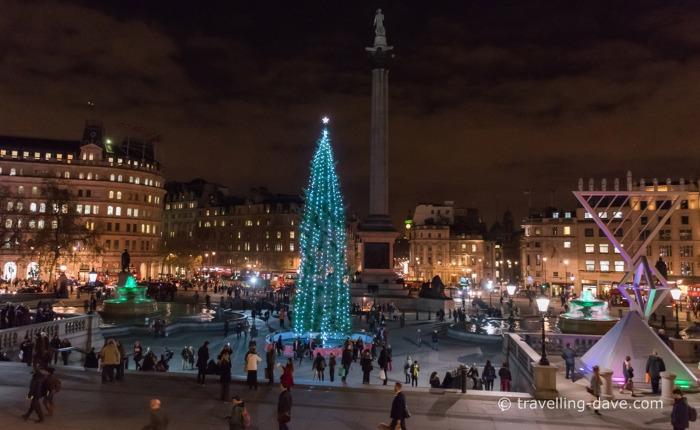 Evening at Trafalgar Square