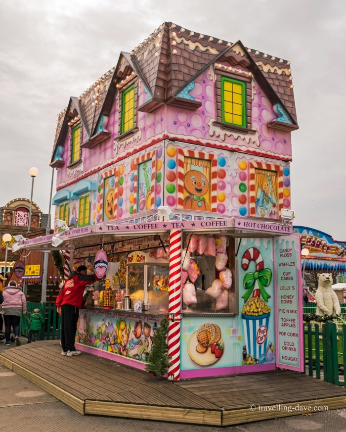 A kiosk at Winter Wonderland