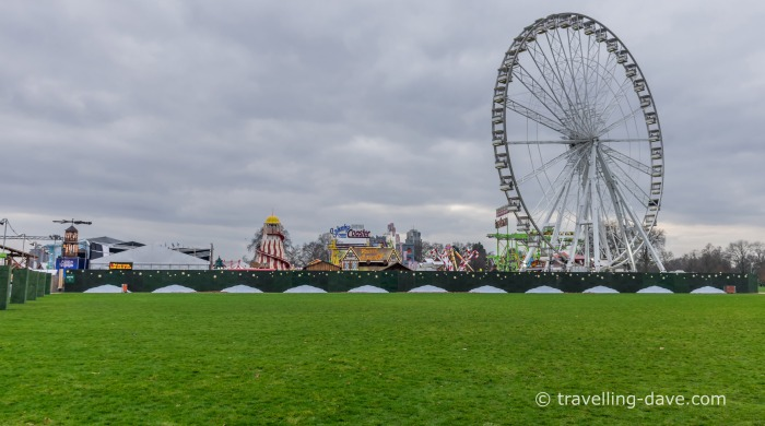 View of Winter Wonderland from Hyde Park