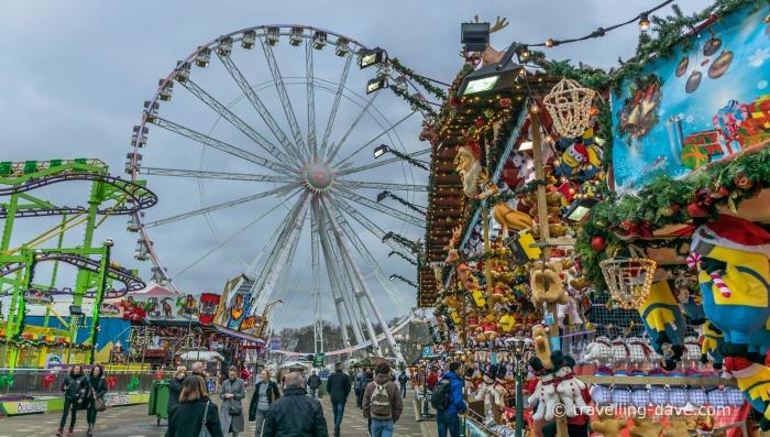 View of the Ferries wheel at Winter Wonderland