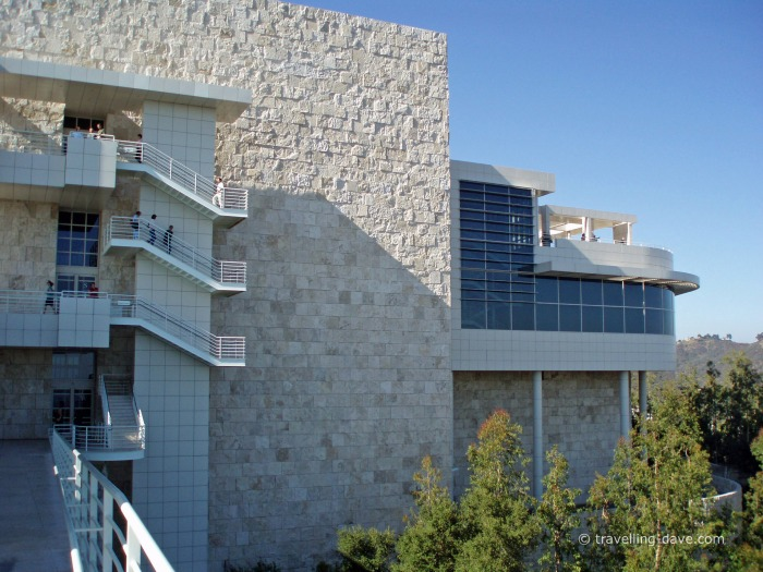 View of one of the buildings of the Getty Center