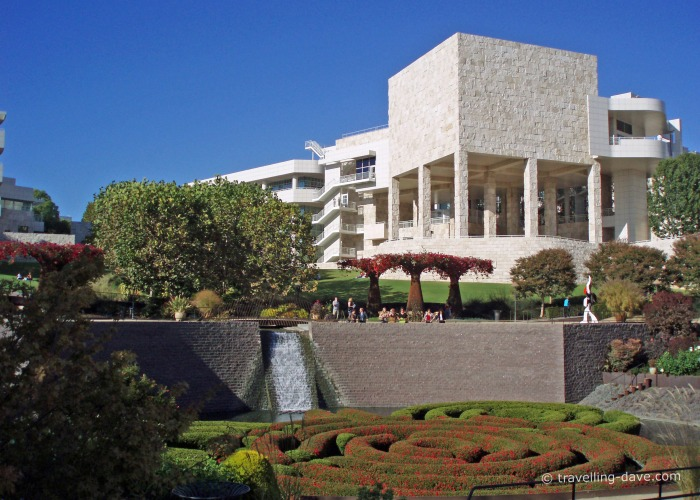 View of the Central Garden at the Getty Center