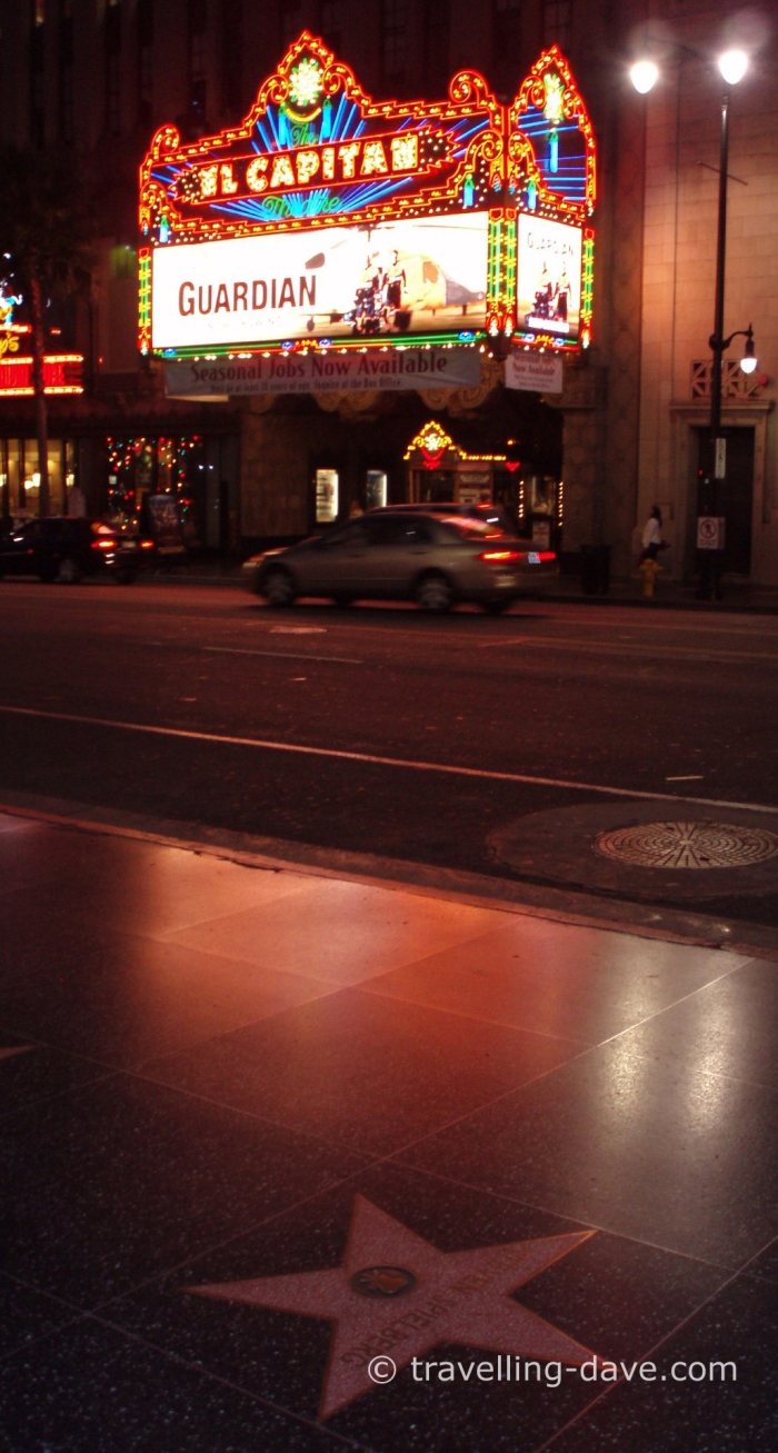 View of Hollywwod's El Capitan Theater