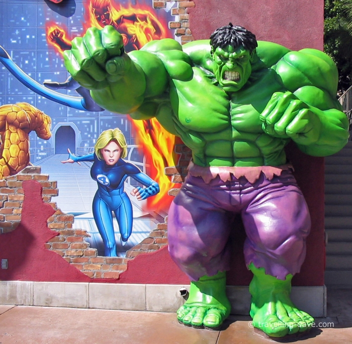 View of the Hulk sculpture at the Universal Studios