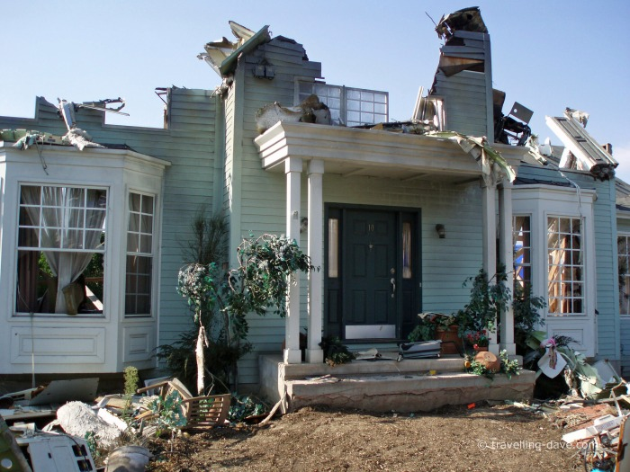 View of part of the set of the War of the Worlds movie