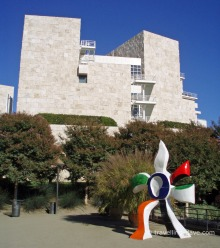 One of the Getty Center outdoor sculptures