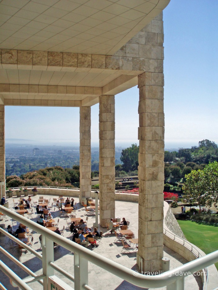 View of the Getty Center Terrace Cafe'
