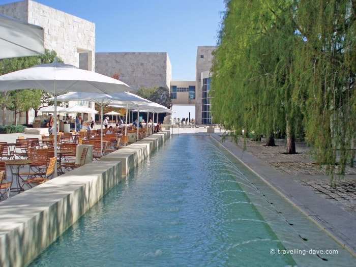 One of the Getty Center water features