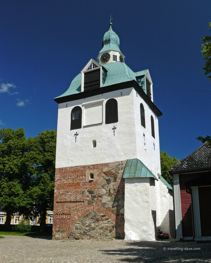 The bell tower next to Porvoo Cathedral