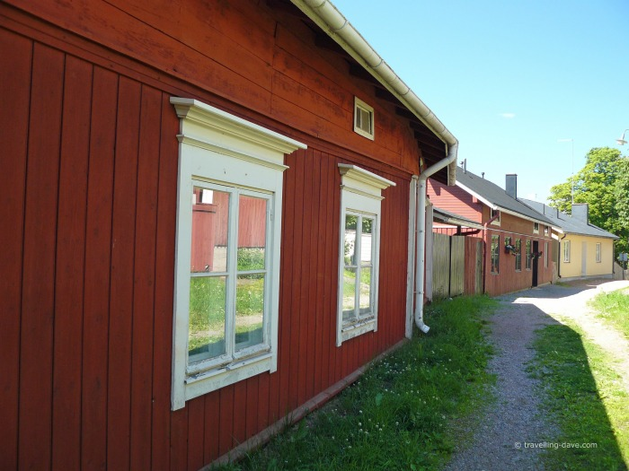 Colorful wooden houses in Porvoo