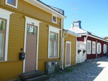 Some of the houses in Porvoo Old Town