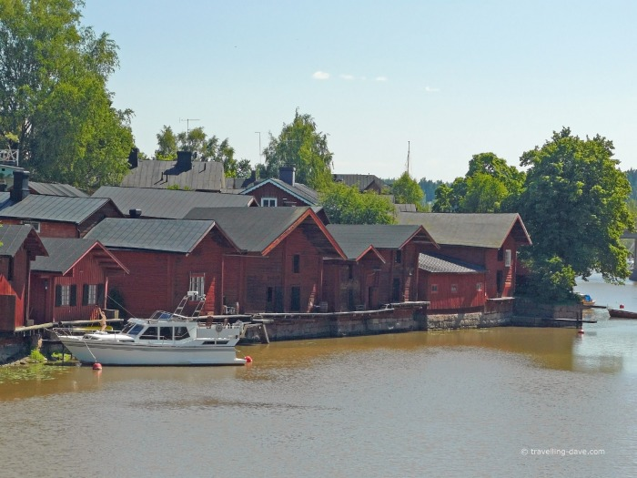 Porvoo famous red warehouses