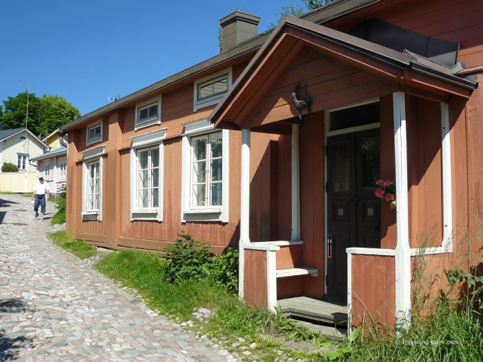 View of some houses in Porvoo