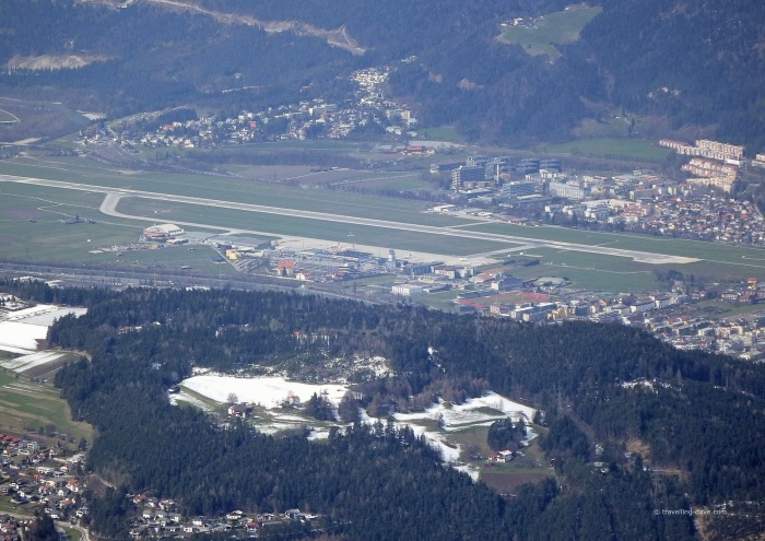 View of the airport at Innsbruck