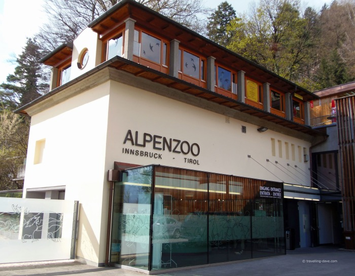View of the entrance to the Alpenzoo