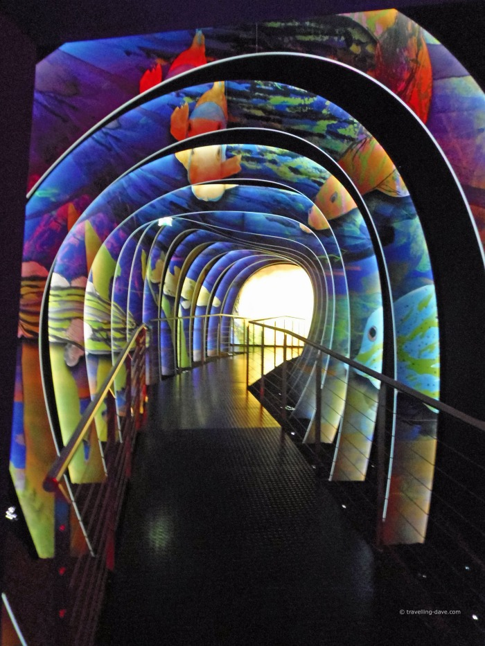 A colorful passage inside Swarovski World