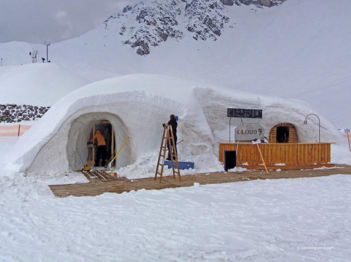 View of Innsbruck Cloud 9 igloo bar